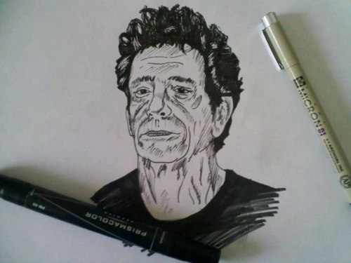 Sketch of Lou Reed.