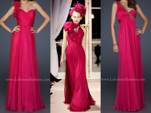 Spring 2012 Couture: Giambattista Valli's collection inspired by La Femme's bold FUCHSIA!