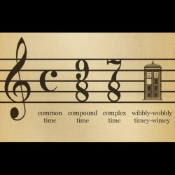 doctorwho:  Proper music notation istolethebacon:  #doctorwho  (Taken with instagram)