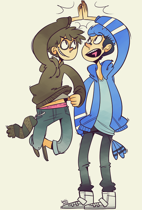 fuckyesregularshowart:  Regular Bros by devlinne