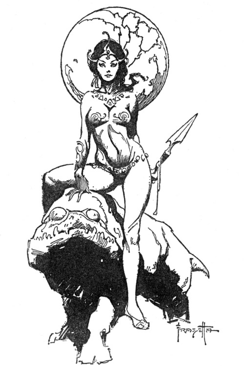 By Frank Frazetta. [Golden Age Comic Book Stories]