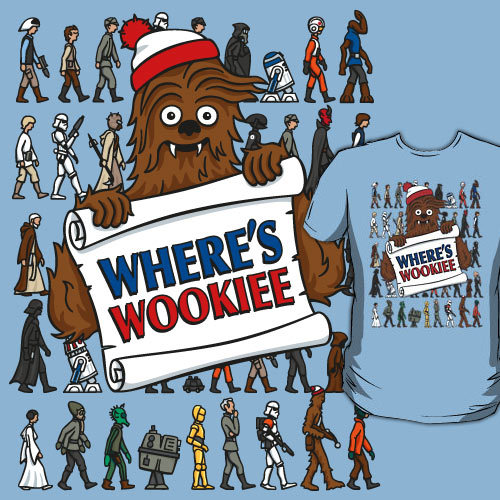 doodledojo:  Where's Wookiee? Can you find the 7ft tall hairy alien? Available at Redbubble now Doodle Dojo | Facebook