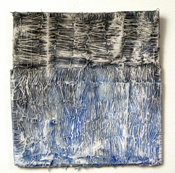 Elisa D'Arrigo La Carta (11), 2009 paper, thread, acrylic paint, marble dust  9 x 7 inches