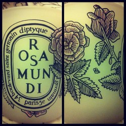 #Diptyque limited edition Valentines Day Rose candle #floral (Taken with instagram)