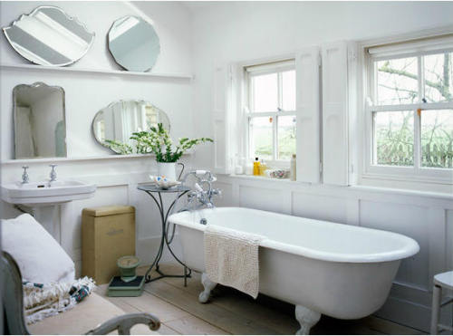 Light and airy bathroom! College Guy Design - a blog about simple, easy, and liveable design with the occasional diversion to the extravagant. micasaessucasa:  (via desire to inspire)