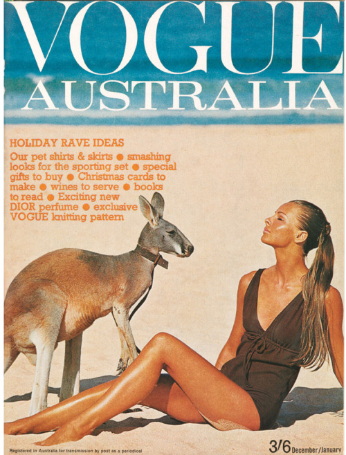 Happy Australia Day to all our Tumblr followers! Vogue Australia December/January 1964-65. Cover by Helmut Newton.