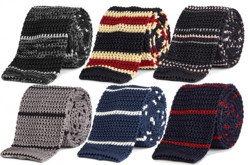 cool knit ties! i want the top middle one!