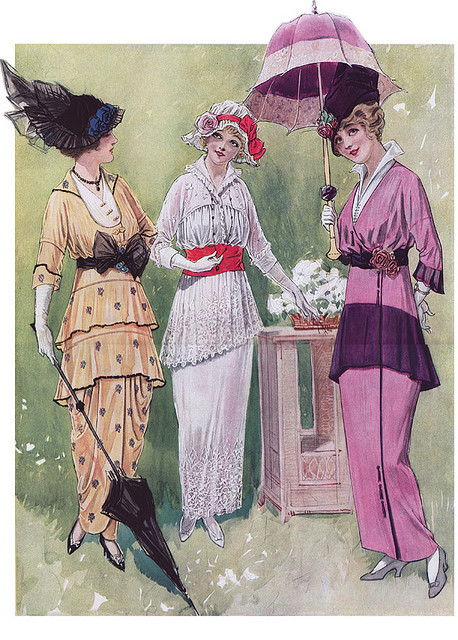 old-ads-and-mags:  1914 - Day Dresses