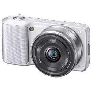 Sony Alpha NEX-3 Check Current Price this item ships for FREE with Super Saver Shipping  The quality of a DSLR in about half the size, weight World's smallest, lightest interchangeable lens camera Same APS-C sensor size, same resolution as Alpha DSLRs 14.2 MP; up to 7 fps shooting; ISO 12800 sensitivity Sweep Panorama captures incredible landscapes Click here to order