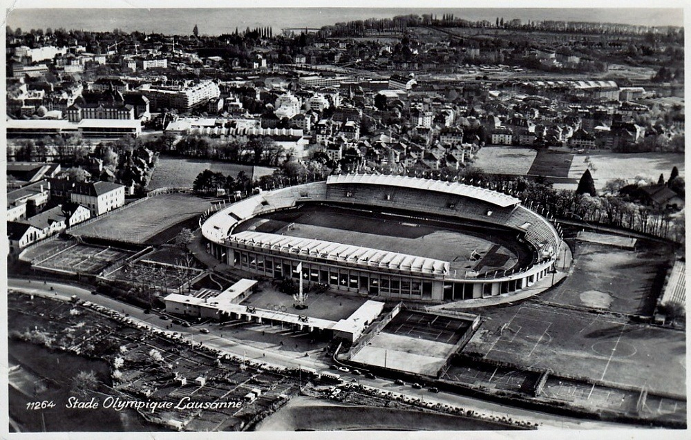 Stade Oympique de la PontaiseLausanne, SwitzerlandSource: Postcard, published 1950's