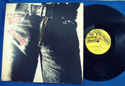 "The Rolling Stones ""Sticky Fingers"" LP - Rolling Stones/EMI Records, Germany (1971). *Album design by Andy Warhol."