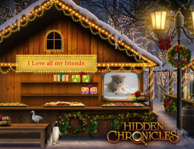 Check out the hidden object holiday scene that I made, can you find the snow bunny? Happy Holidays from Hidden Chronicles, Zynga's new game. Create your own scene now and see what you've been missing - literally!