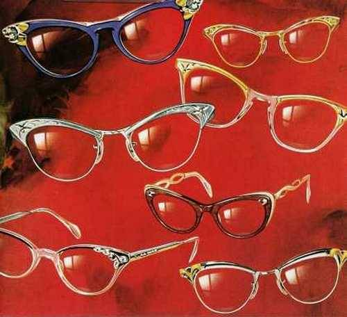 ladyislingering:  theniftyfifties:  1950s ladies glasses by American Optical.  Get on my face, you glorious babies.