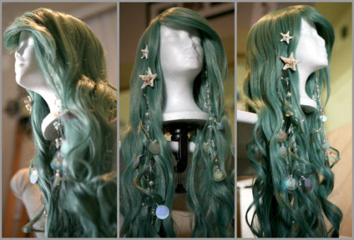 lovelylocksofhair:  Seafoam Mermaid Wig by SirensGrotto