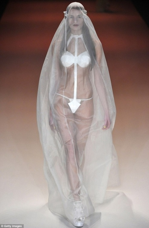 "Hey ladies… getting married soon? Why not try a g-string wedding dress? Nothing says ""consumate with me"" like a wedding dress that's not even a dress at all. Via"