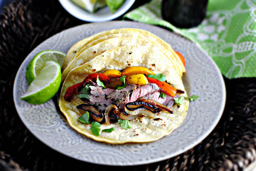 foodopia:  chimichurri steak fajitas: recipe here