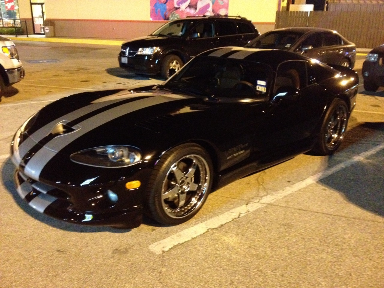Wordsasmedium: Dodge Viper GTS Love the muscle and style of these older Vipers, and it's always a pleasure when it's a black GTS. Thanks for the submission!