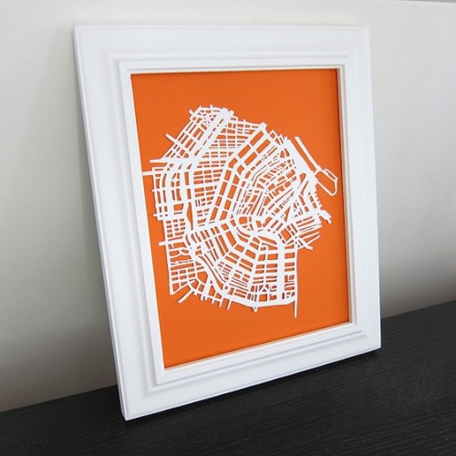girlhattan:  (via How To: Create a Paper Cut Map of Your Favorite City Just Crafty Enough | Apartment Therapy)