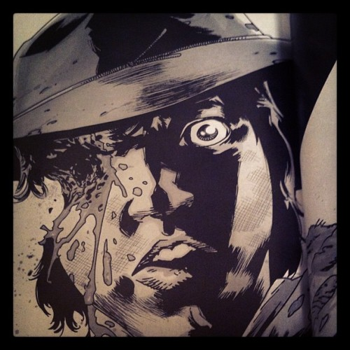 Carl got shot in the face!  #TheWalkingDead #Image #TWD  (Taken with instagram)