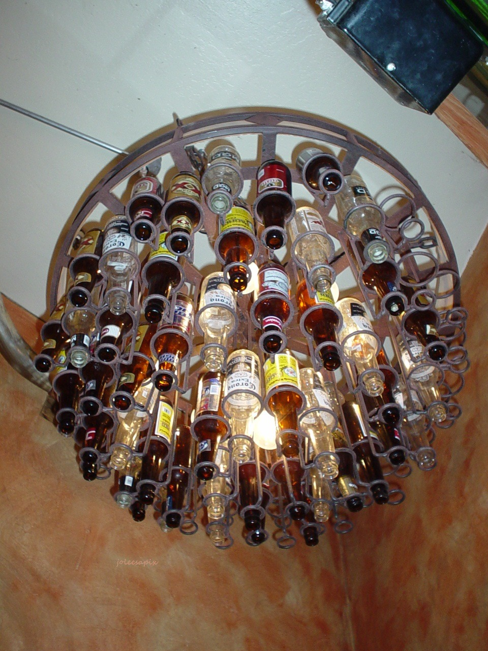 Beer Chandelier … I love saying that!