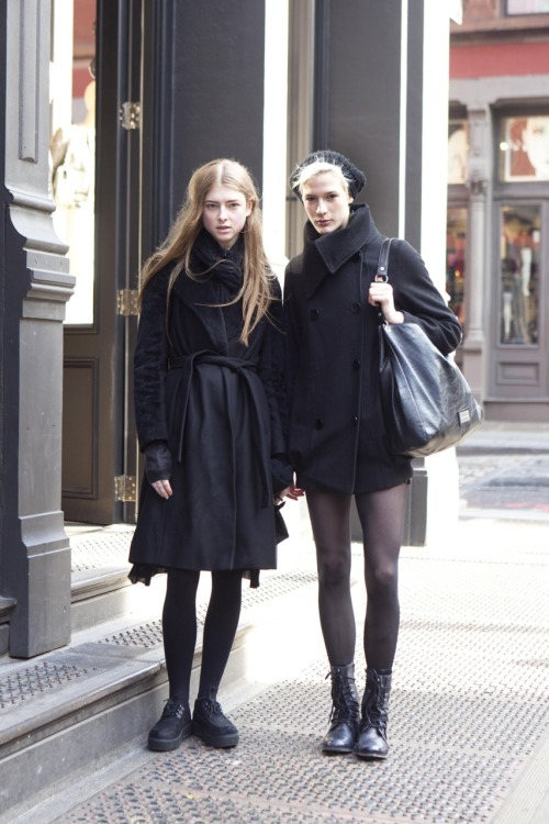 MODEL STYLE: Stacey Grant and Sarah Whale @ TRUMP Models On Spring Street yesterday - so chic and nice! xx
