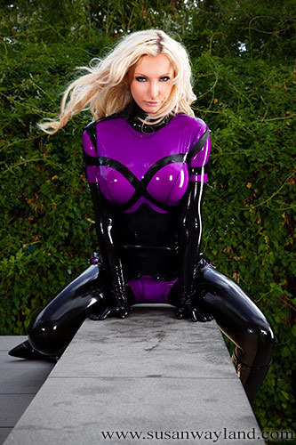 Sway looks great in anything latex - but always particularly so in purple!