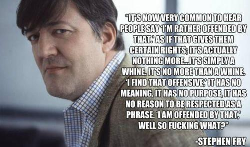 Stephen Fry speaks truth  画