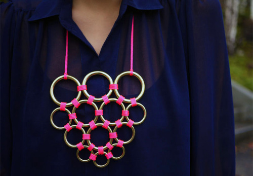 Gretchen Jones necklace. DIY instruction.