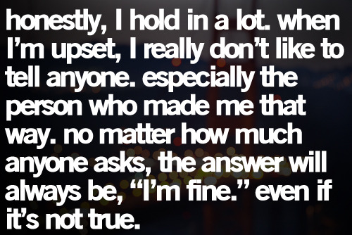 "yea"" im fine.. really.."