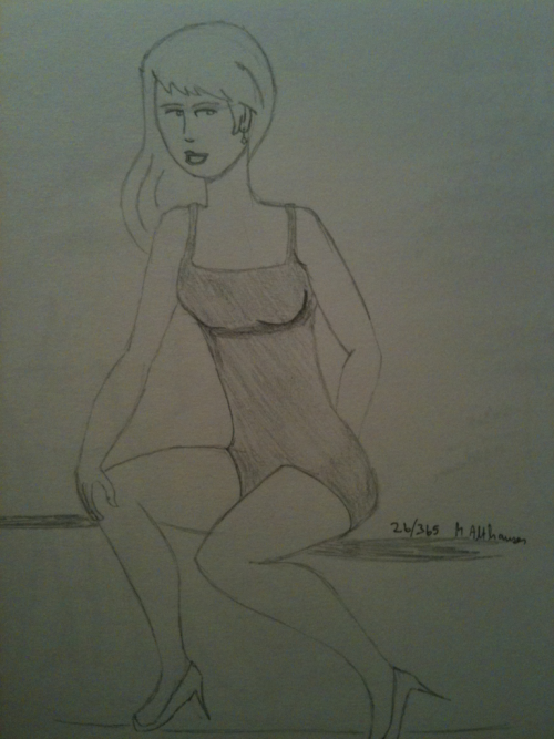 26/365 in my 365 Sketch Project. Another pin up girl. This one was fun to do.