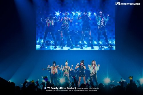2NE1's Official Photo from 2012 YG Family Concert @ Saitama Arena Japan source: YG-Family's Official Facebook
