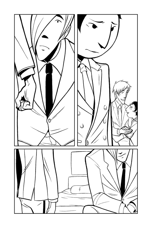 PS here is the lineart for one of tonight's pages, because I liked how it came out! Pentel Pocket Brush pen!