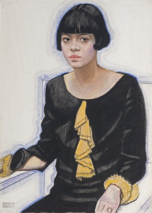 "rlaneri:  Winold Reiss: ""Sari Price Patton,"" 1925. Private collection. © The Reiss Partnership. I came across Winold Reiss' painting of this chic young woman at the wonderful exhibition ""Youth and Beauty: Art of the American Twenties"" at the Brooklyn Museum. I love the Patton's trendy page-boy haircut and her loose-fitting, low-waisted black silk gown and the yellow pleated ruffled tie and cuffs. She's fashionable and youthful. She's also black: You don't see very many portraits of middle-class black women — or men — in many major museum shows, so I was intrigued. There is very little info available on Sari Price Patton, but she was the hostess at a popular Harlem salon run by A'Lelia Walker. A patroness of black artists, including Harlem Renaissance writers like Langston Hughes, Walker hosted black writers, sculptors, poets, painters, musicians and their friends at her house, serving food, champagne and gin. She and her friends decided to open a more formal salon, for conversation, poetry readings and art exhibitions, called ""The Dark Tower"" (after the Countee Cullens poem). Yet the Dark Tower only lasted a year: partly because Walker had hoped to profit from the enterprise so started charging high prices the artists couldn't afford. (The writer Bruce Nugent griped that ""Colored faces were at a premium, the place filled to overflowing with with whites from downtown who had come up expecting that this was a new and hot nightclub.""* But the club also lost money because our Sari Price Patton was caught embezzling some of the daily receipts. This was in 1927/1928, so before Reiss painted the chic young woman here. * From ""On Her Own Ground: The Life and Times of Madam C.J. Walker"" by A'Lelia Bundles  Painting from the Brooklyn Museum's website  Winold Reiss: ""Sari Price Patton,"" 1925. Private collection. © The Reiss Partnership. Via rlaneri: ""I came across Winold Reiss' painting of this chic young woman at the wonderful exhibition ""Youth and Beauty: Art of the American Twenties"" at the Brooklyn Museum. I love the Patton's trendy page-boy haircut and her loose-fitting, low-waisted black silk gown and the yellow pleated ruffled tie and cuffs. She's fashionable and youthful. She's also black: You don't see very many portraits of middle-class black women — or men — in many major museum shows, so I was intrigued. There is very little info available on Sari Price Patton, but she was the hostess at a popular Harlem salon run by A'Lelia Walker. A patroness of black artists, including Harlem Renaissance writers like Langston Hughes, Walker hosted black writers, sculptors, poets, painters, musicians and their friends at her house, serving food, champagne and gin. She and her friends decided to open a more formal salon, for conversation, poetry readings and art exhibitions, called ""The Dark Tower"" (after the Countee Cullens poem). Yet the Dark Tower only lasted a year: partly because Walker had hoped to profit from the enterprise so started charging high prices the artists couldn't afford. (The writer Bruce Nugent griped that ""Colored faces were at a premium, the place filled to overflowing with with whites from downtown who had come up expecting that this was a new and hot nightclub.""* But the club also lost money because our Sari Price Patton was caught embezzling some of the daily receipts. This was in 1927/1928, so before Reiss painted the chic young woman here. * From ""On Her Own Ground: The Life and Times of Madam C.J. Walker"" by A'Lelia Bundles  Painting from the Brooklyn Museum's website"""