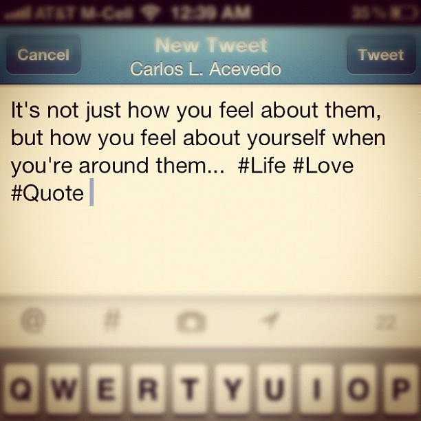 #love #quote #life #foodforthought  (Taken with instagram)