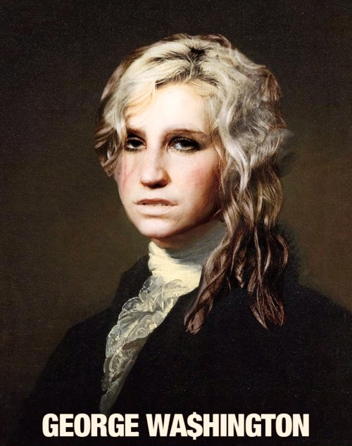 I love George Wa$hington's hair.