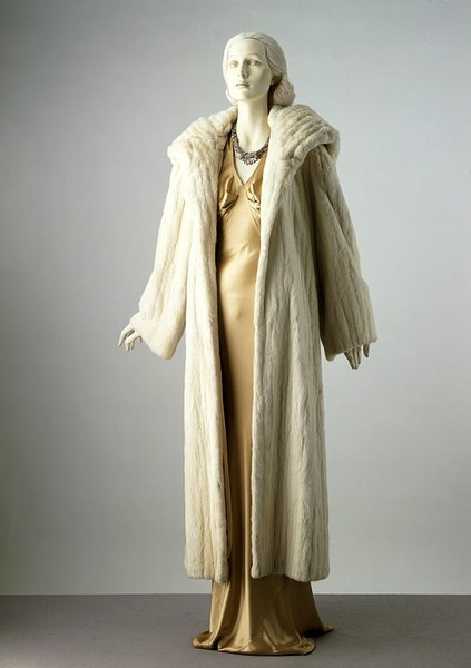 Charles James evening dress and coat from 1934.