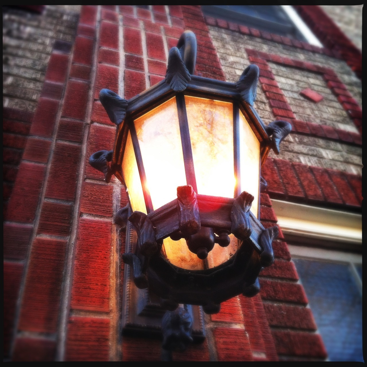 Lamp Taken with Hipstamatic, Loftus Lens, DC Film, No Flash.
