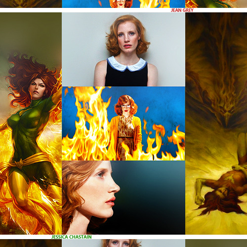 Casting Call || Jessica Chastain as Jean Grey