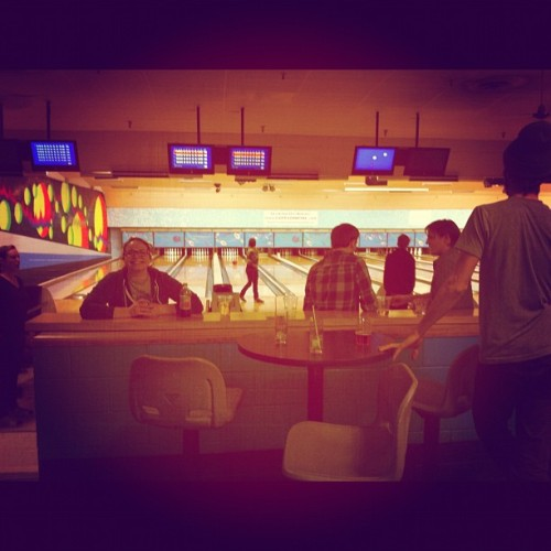 Spanning time together at the bowling ally (Taken with instagram)