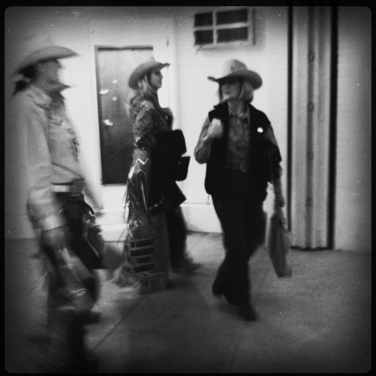 Rodeo Queens Taken with Hipstamatic, Tejas Lens, Rock BW-11 Film, No Flash.