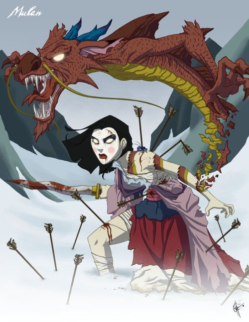 Twisted Princess: Mulan by ~jeftoon01