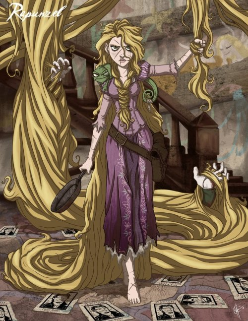 Twisted Princess: Rapunzel by ~jeftoon01