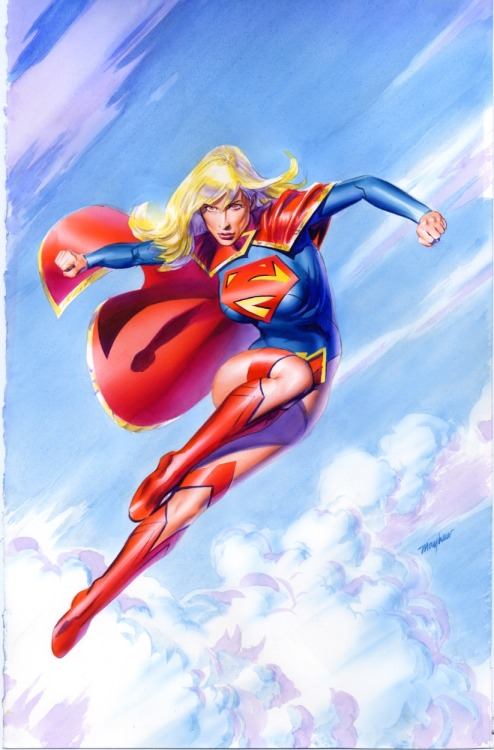 dcplanet:  Supergirl - Paint, watercolor Art by Mike Mayhew