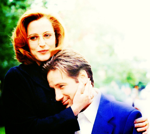 ... #gillian anderson #david duchovny #my photoshop edit #mulder #scully