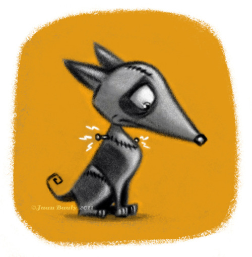 "Sparky ""Frankenweenie"", by Juan Bauty. Here you can read an entry at Susanita's Little Gallery's Blog dedicated to Juan Bauty"