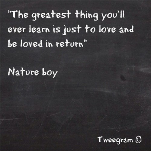 Nature boy #tweegram #music #lyrics #love #song (Taken with instagram)