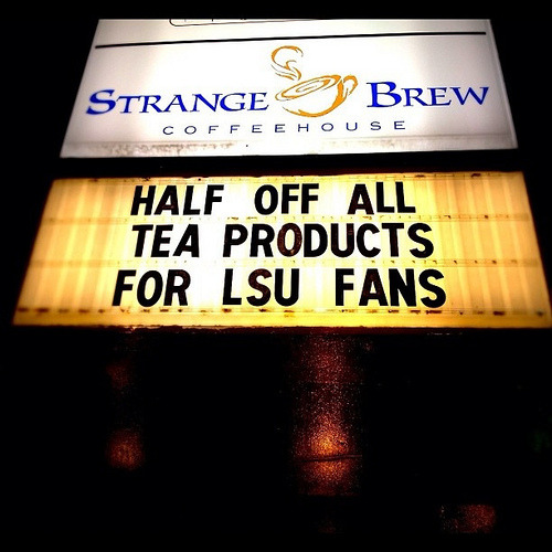 i don't know who is running the sign department over there at the Brew, but they deserve a raise! #HailState
