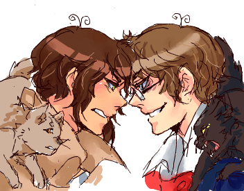 first time coloring 2p!Greece in iscribble and I ttly researched some info on appearances that way I won't fuck up lol. Greece doesn't seem too happy in seeing him tho, that's for sure.