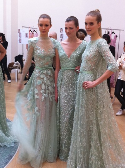 saloandseverine:  Elie Saab HC SS 2012 Paris: backstage