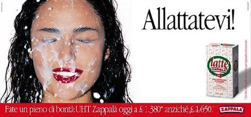 Italian milk advertising.